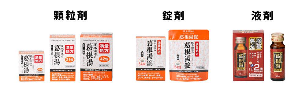 阪本漢法製薬の葛根湯種類